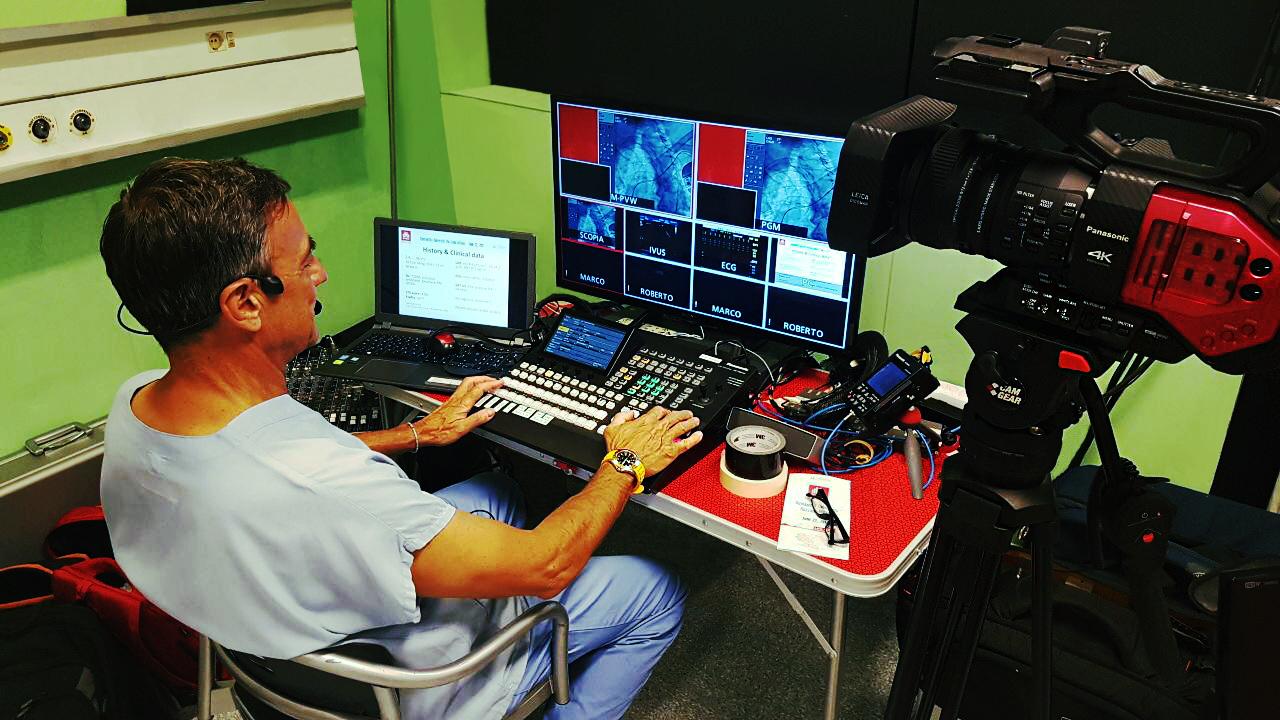 diretta live istittuto clinico humanitas di rozzano, live case svolto da Dr bernhard Reimers, audio e ideo, trasmissione, 4k, altissima definizione, doctor, medicine, medical, research, course, learning, meeting, university
